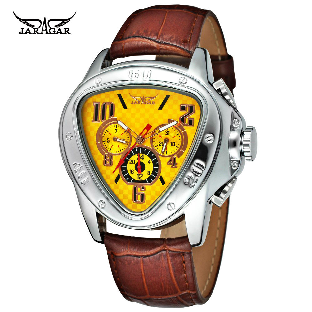 Unique Dial Men Triangle Automatic Watches Cobra Army Mechanical Genuine Leather Bands Watch Relogio MasculinoUnique Dial Men Triangle Automatic Watches Cobra Army Mechanical Genuine Leather Bands Watch Relogio Masculino