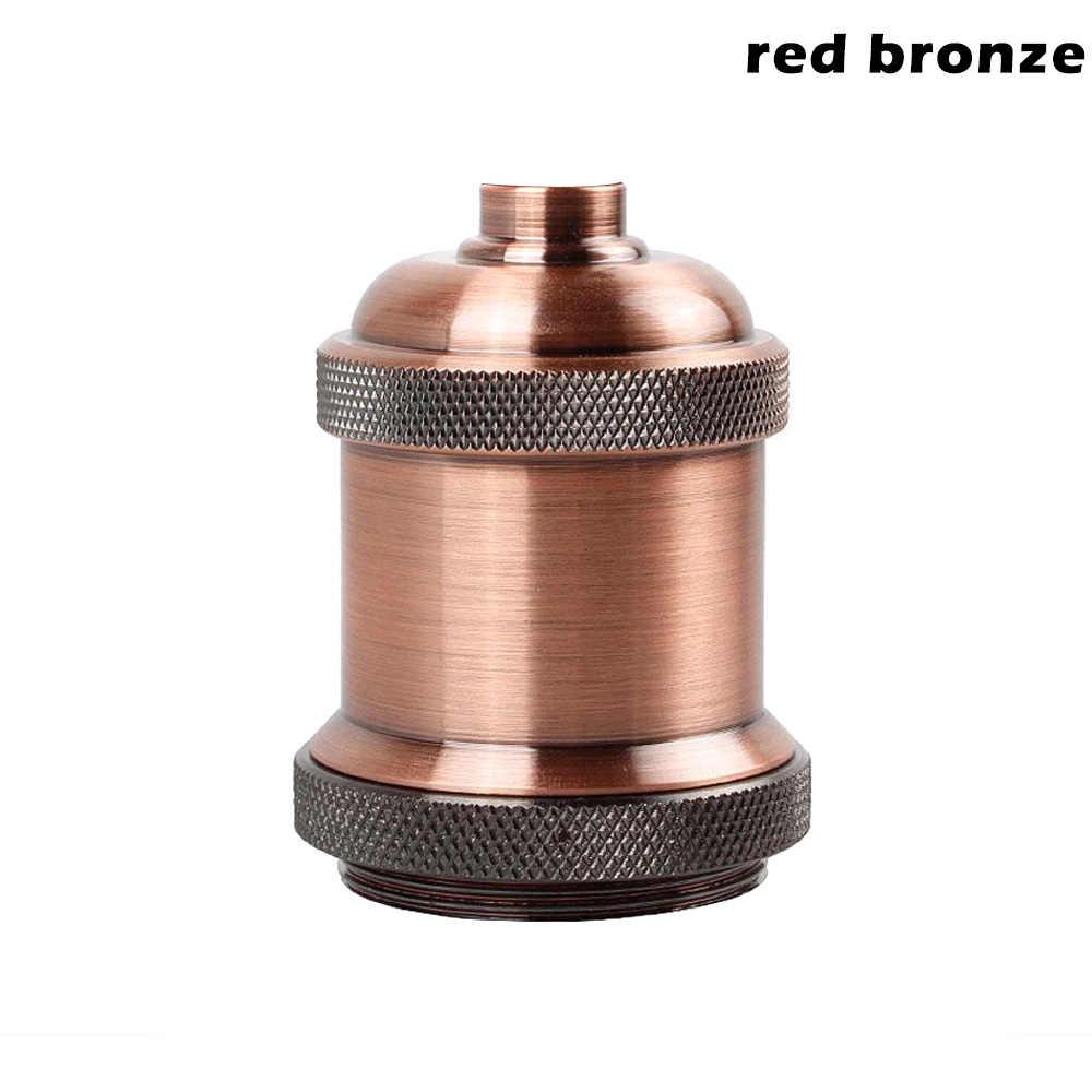 1 Pcs Vintage Edison Lamp Socket Pendant Light E27 Screw Bulb Base Aluminum Light Socket QP2