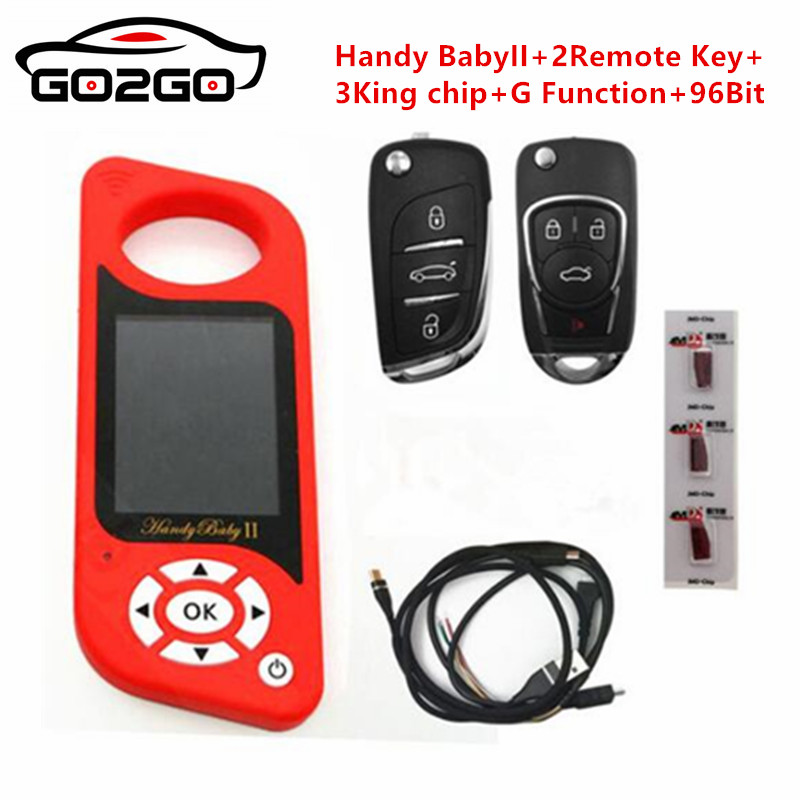 JMD Handy Baby II Auto Key Tool for 4D/46/48/G Chips Programmer Handy Baby 2 English/Spanish Language in stock-in Auto Key Programmers from Automobiles & Motorcycles