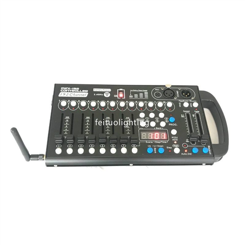 New Mini Wireless Dmx Controller 192 Channels Battery Controller Stage Lighting Auto Or Manually Dmx 192 Controller Mini ConsoleNew Mini Wireless Dmx Controller 192 Channels Battery Controller Stage Lighting Auto Or Manually Dmx 192 Controller Mini Console