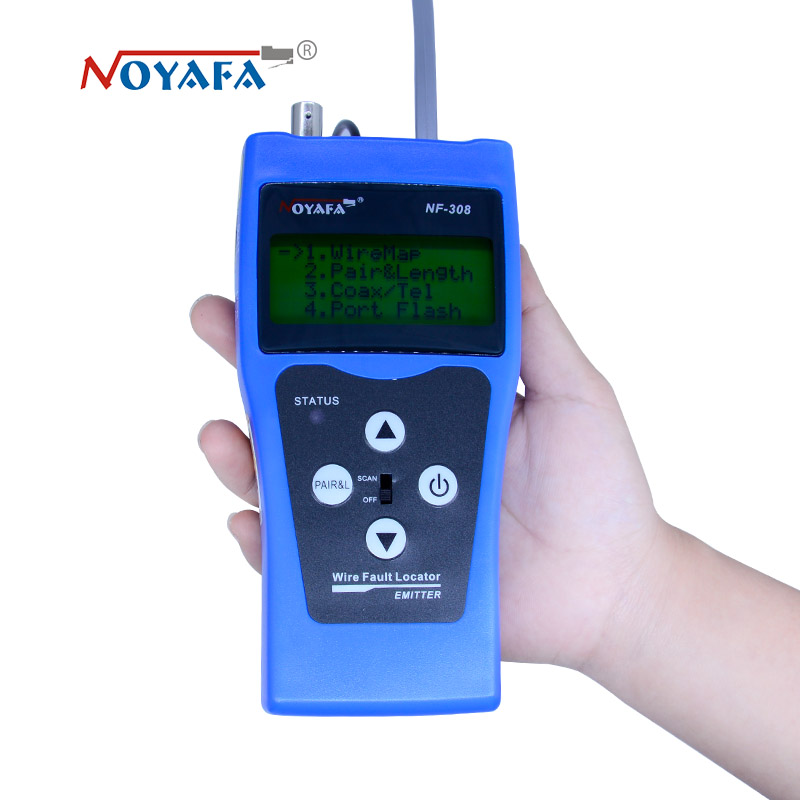 все цены на LCD Wire Fault Locator NF-308 Blue color Coacial BNC usb lan cable finder Network cable tester RJ45 RJ11 онлайн