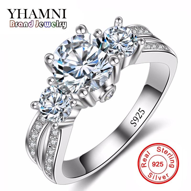 Edlen Schmuck Ring Silber Echt 925 Sterling Silber Hochzeit Ringe
