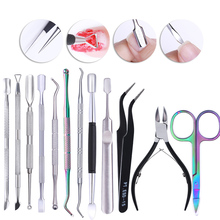 Nail Cuticle Pusher Dead Skin Remover Tweezer Dual-ended Stainless Steel Anti-slip Handle Manicure Predicure Nail Art Tool 1 pc dual ended silver rose gold uv gel remover cuticle pusher dead skin remover stainless steel professional nail art care tool