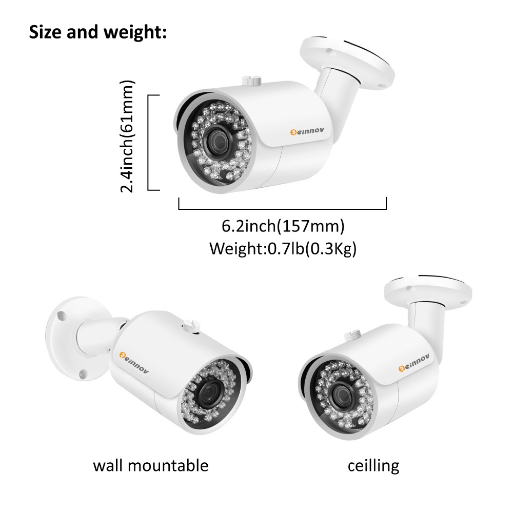 Image 3 - Einnov 8CH 5MP Video Monitoring Surveillance Kit Outdoor Home Security Camera System DVR AHD Camera CCTV Set P2P APP XMEye HD-in Surveillance System from Security & Protection