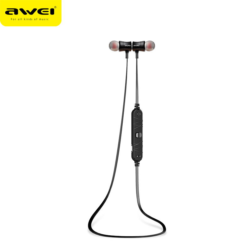 2016 Awei A921BL Magnet Wireless Sports Earphones Bluetooth Headset super Bass Stereo in ear earphone headsfree with microphone