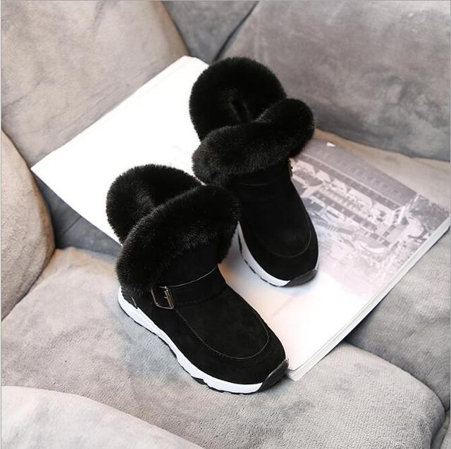 New Winter Children Snow Boots For Girls Fur Boot Fashion Kids Shoes Keep Warm Fashion Soft Girl Leather Plush Boots
