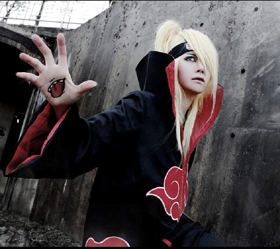 Hot Sale Anime Naruto Cloak Robe Cape Akatsuki Cosplay Costumes for Adult