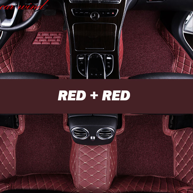 Car Wind Leather Auto car floor Foot mat For peugeot 308 206 508 5008 301 2008 307 207 3008 2012 waterproof car accessories