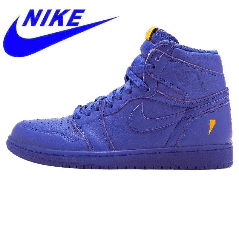 purchase cheap c81e6 784aa Nike Air Jordan 1 Retro Hi OG G8RD Gatorade Joint - Purple Men s Original  Shock Absorber Basketball Shoes Sneakers AJ5997 555