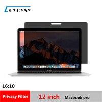 12 pulgadas de Pantalla Filtro de Privacidad Protector de Cine para 16:10 Portátil MacBook pro 10 7/8