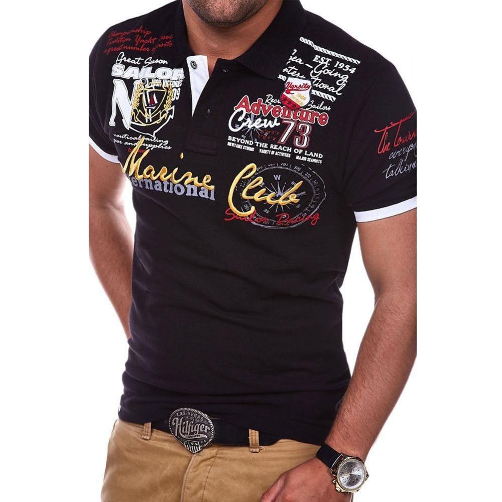 Zogaa Casual Polo Shirt S-4XL 2018 Summer Clothing Men's Polo Shirt Pure Color Turn-down Collar Mens Short-Sleeve Tops