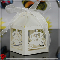 50pcs Laser Cut Baby Carriage Candy Box Wedding Favor Box Party Favors Gift Box Wedding Decoration Party Supplies 5ZXT22