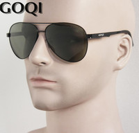 ICONIC GOQI Marki Okulary, klasyczne Pilot 61 MM Mężczyźni Spolaryzowane Okulary, płaskie Metalowe Trwałe Luksusowe Pełny Zestaw Pakowania Gafas
