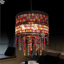 Thai glass lamp Jane European pastoral living room lamp bedroom lamp restaurant decorated Pendant Lights wwy