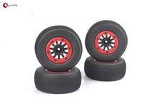4 Unids/set RC Toy Parts 1/10 Short Course Truck Neumáticos juego de Neumáticos De Coche de Juguete de Control Remoto HPI TRAXXAS SlASH modelo