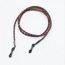Qoven очки на верёвке из искусственной кожи цепи для женщин и мужчин ремешок ожерелье аксессуары: солнцезащитные очки