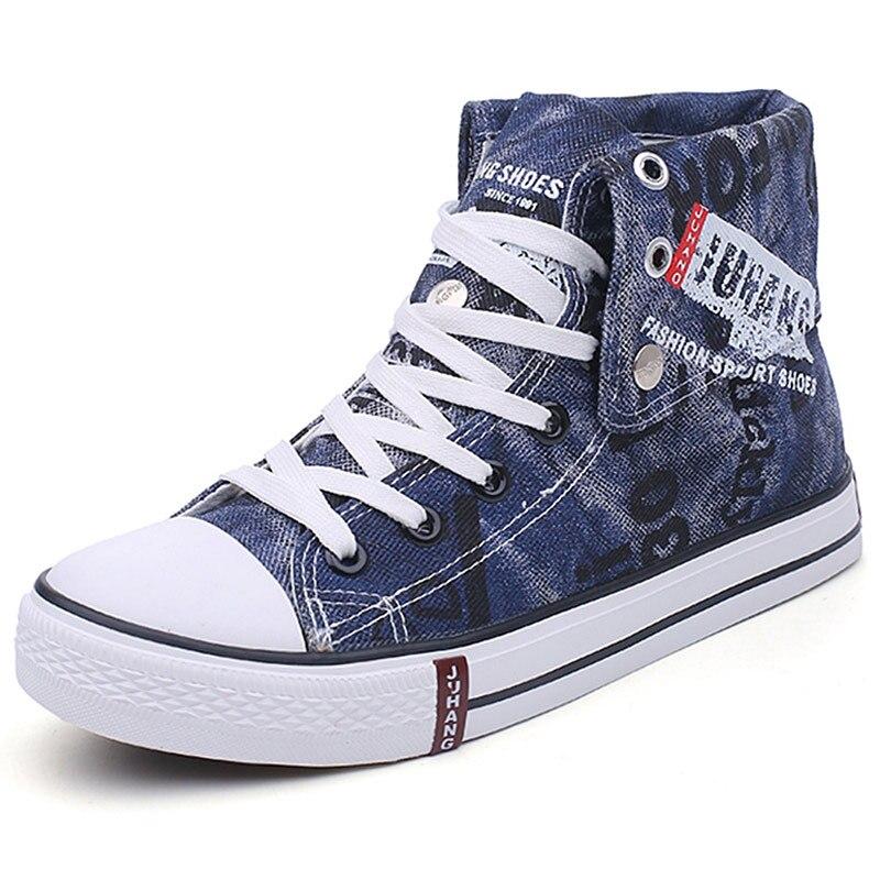 Image 5 - Мужские кроссовки; парусиновая обувь; Повседневная Вулканизированная обувь; мужские высокие кроссовки; летние дышащие кроссовки на шнуровке; zapatillas hombre-in Мужская вулканизированная обувь from Обувь