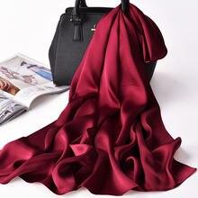 100% narure шелковый шарф Для женщин весна роскошный фуляр femme
