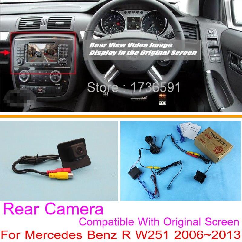 For Mercedes Benz R W251 2006 2013 RCA Original Screen Compatible Car Rear View Camera Sets