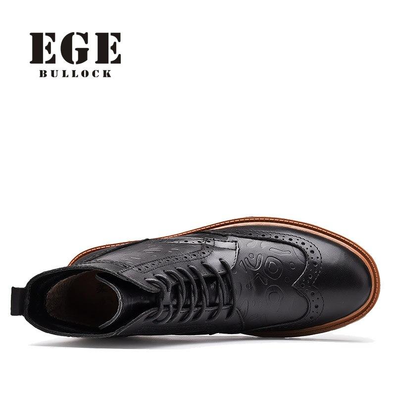 beca2890bf82 EGE Marke Britischen Stil, Mode Männer Stiefel Winter Warme Echtes ...