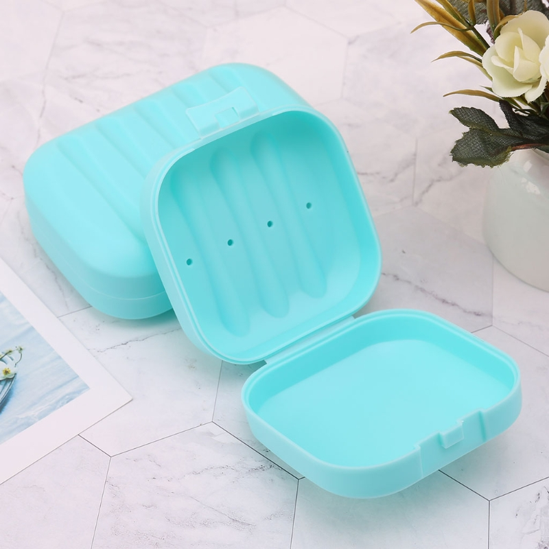 Bathroom Shower Portable Soap Case Dish Plate Case Travel Container With Lid