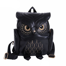 Cute Owl Fashion Backpacks Cartoon Women Backpack Softback School Bags Teenage Backpacks for Girls #YL5 cheap MUQGEW Embossing 20-35 Litre Cell Phone Pocket Interior Zipper Pocket Soft Handle NONE Solid Bag Arcuate Shoulder Strap