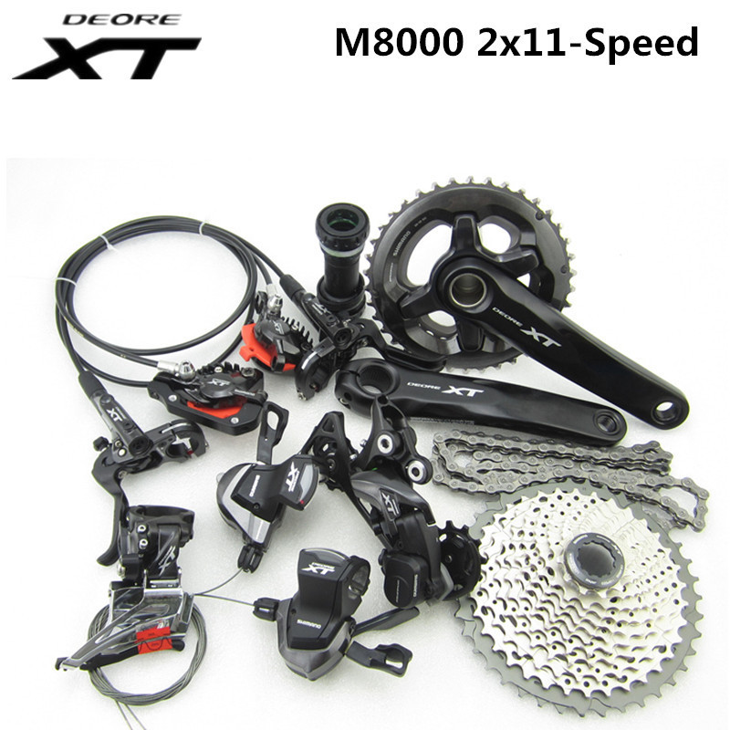 SHIMANO DEORE XT M8000 2x11 22S Speed 38/28T 36/26T 170mm 11-42T MTB Mountain Bike Groupset система для велосипеда shimano deore xt m771 175мм 48 36 26t с кареткой ifcm771ke866c