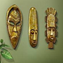African Mask Wall Decor Hanging Tribe Manual Decoration Resin Face Cool Masks