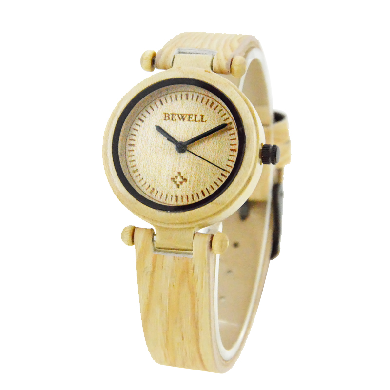 Bewell Mens Watches Wood Zabra Top-Brand for Man Styles Maple Black Luxury 105E