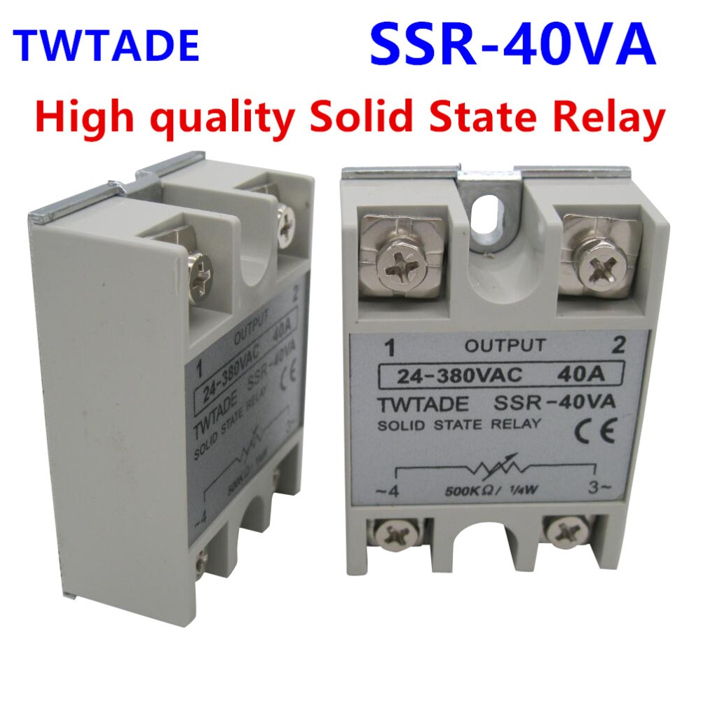 Twtade High Quality Solid State Relay Ssr 40va 40a 470 560k Ohm To 230vac 24 380v Ac Resistance Regulator In Relays From Home