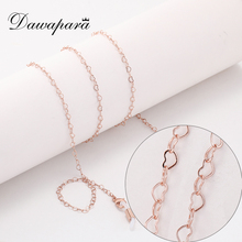 Dawapara Heart Glasses Chain Eye Glasses Accessories Women Rose Gold Color Metal