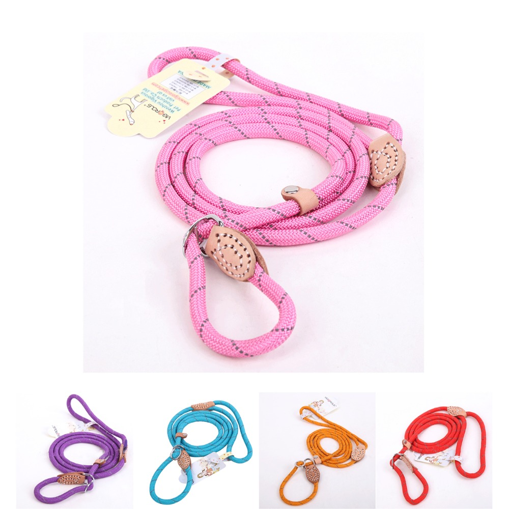 Dog Leash for Large Dogs Training Pet Product Collars Harnesses Accessory Reflective Adjustable