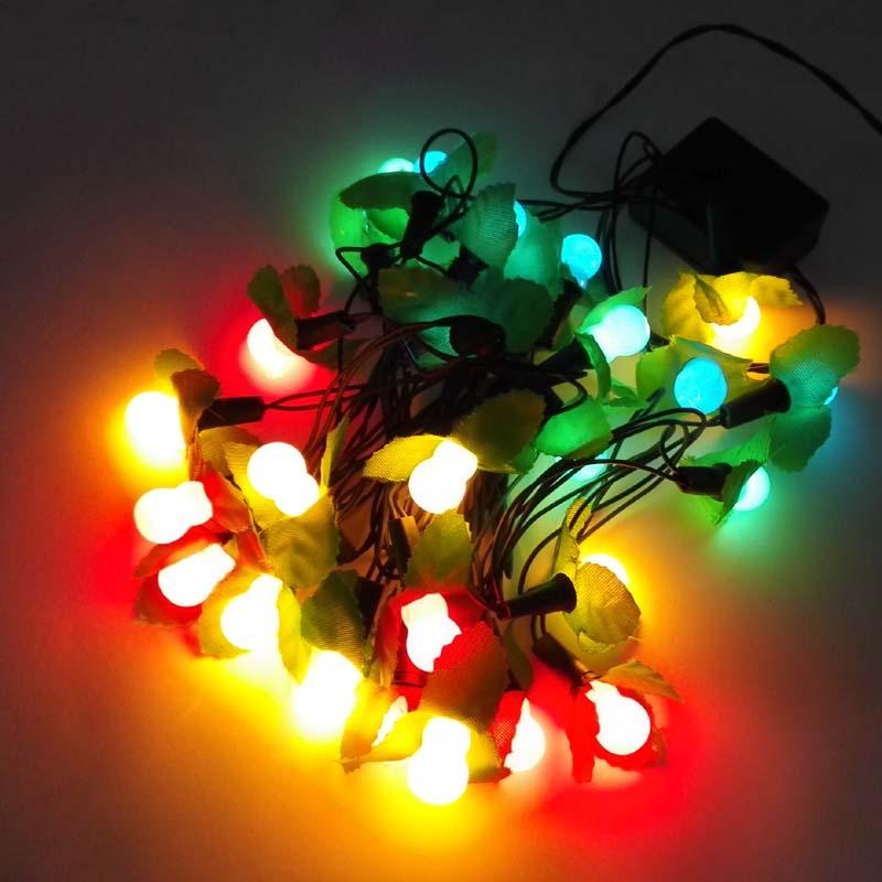 2m length 28 bulbs Christmas decoration light Calabash LED lights with leaves 30-250V voltage range various plugs