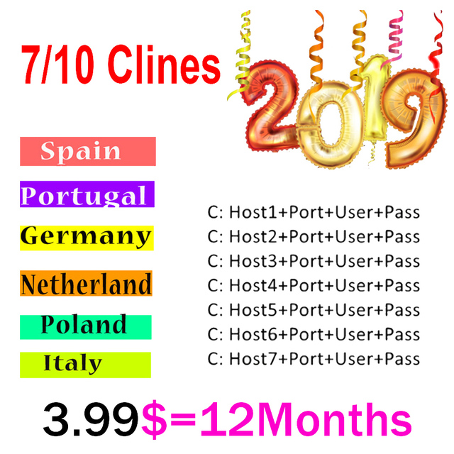 Europe HD cable 1 Year CCCams for Satellite tv Receiver 7 Clines 10 Clines WIFI FULL HD DVB-S2 Support Spain cline ccam Server