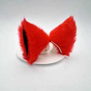 Карнавальный костюм Neko, с длинными меховыми ушками и кошачьими лисьими ушками, для вечеринки, Лидер продаж