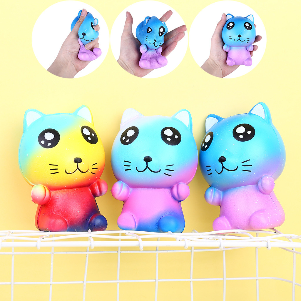 1PC Squishy Toy Kawaii Adorable Toy Slow Rising Starry Sky Cat Scented Stress Relief Toys Gifts Squeeze Relief Toy For Kids C614