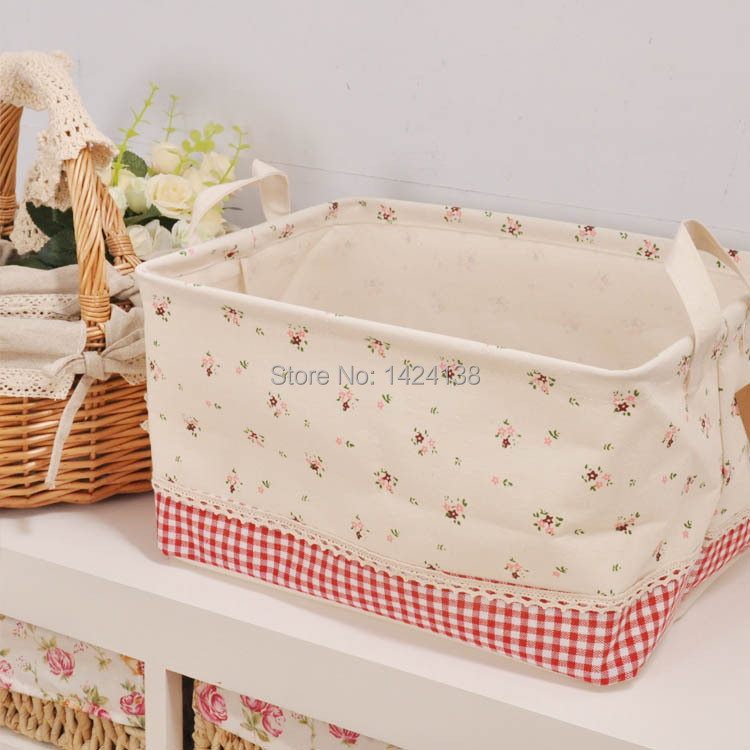 nice foldable canvas fabric storage box with two handlestorage basket with cotton handles -in Storage Boxes u0026 Bins from Home u0026 Garden on Aliexpress.com ...  sc 1 st  AliExpress.com & nice foldable canvas fabric storage box with two handlestorage ...