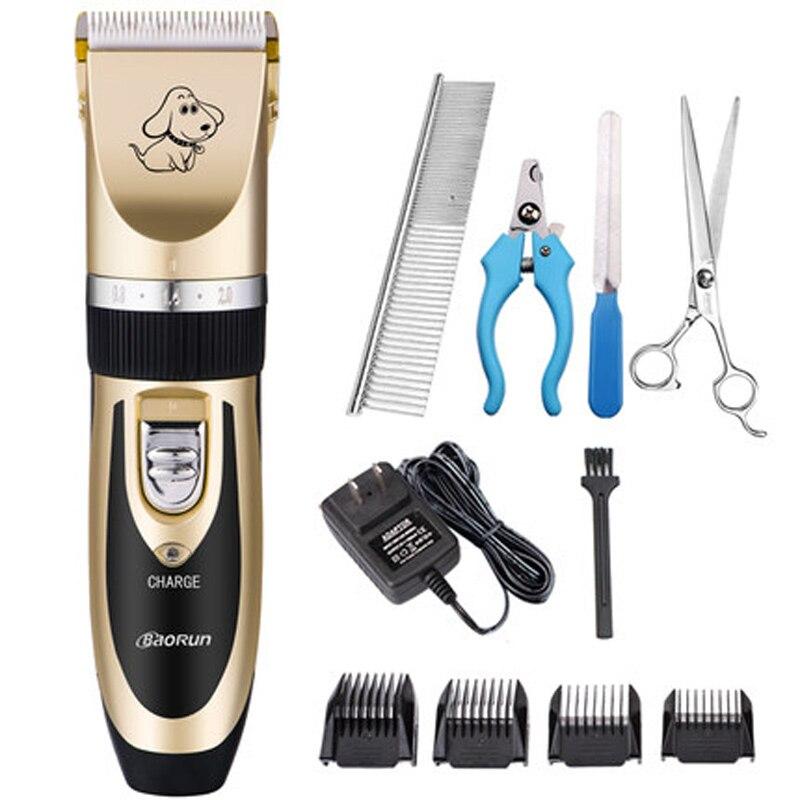 Grooming Kit Ricaricabile Pet Hair Trimmer Dog Cat Set Macchina Taglio di Capelli Elettrico Clipper Rasoio Da Barba Professionale