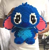 XIZAI Connection blocks Big size Cute Stitch brinquedos Model Cartoon Building Bricks Educational Kids Toys Girl Christmas Gifts