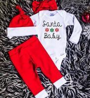 Baby Boy Girl Children Sets 2018 Spring Autumn Long Sleeve Stripe Letter Rompers Full Pants Hat