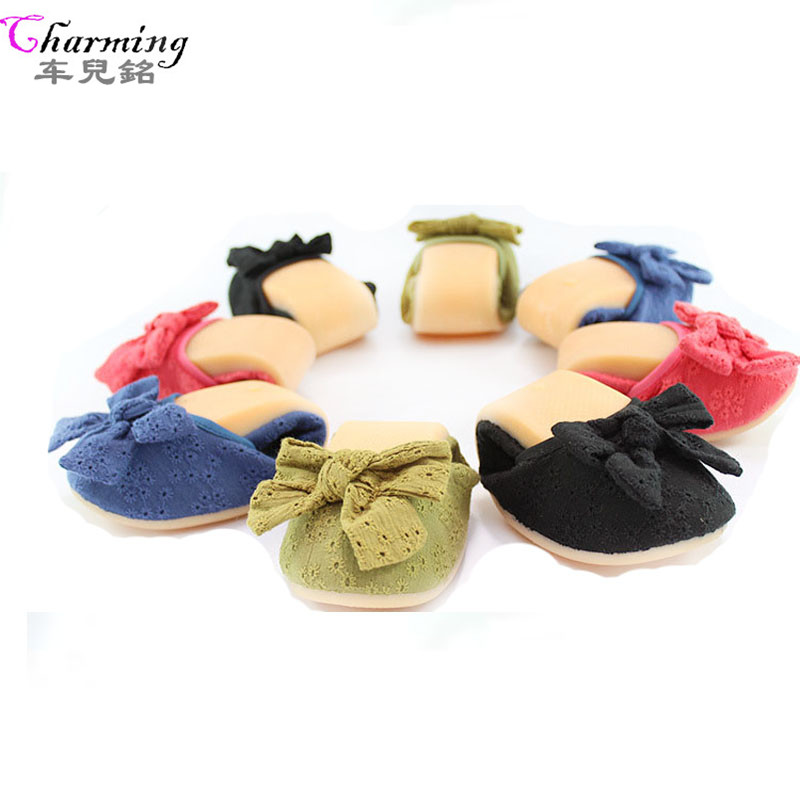 2016 women flats fashion Brand Rollable foldable ballet shoes embroidery flowers super soft women casual shoes