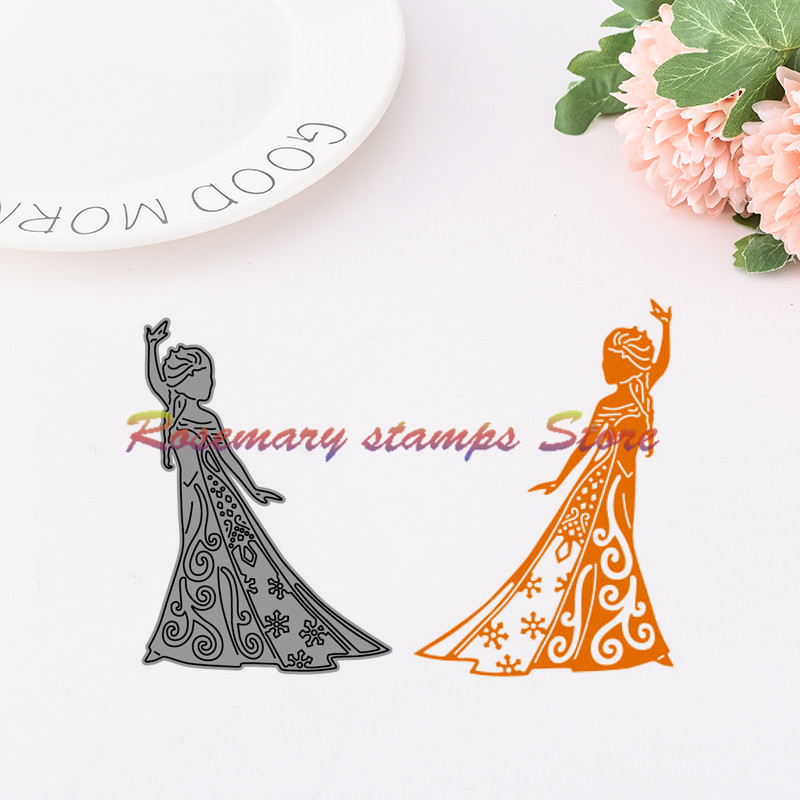 Dancing Female Design Metal Stamp Cutting Dies For DIY Scrapbookings Album Cards