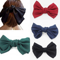4 pcs/lot Large Big Huge soft silky hair bow clip lolita party oversize Handmade girl Freeshipping