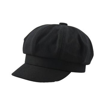 1276314d Gorra Octagonal de fieltro de cabeza pequeña de Invierno para mujer,  sombreros de pintor de lana, gorros grandes para hombre de hueso de talla  grande ...