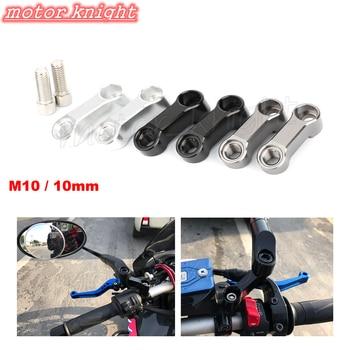 Para CB1000R CB600F Hornet CB600/CB900 CB1300SF CB750 CB400 extensores de espejos de motocicleta adaptador de extensión espaciadores