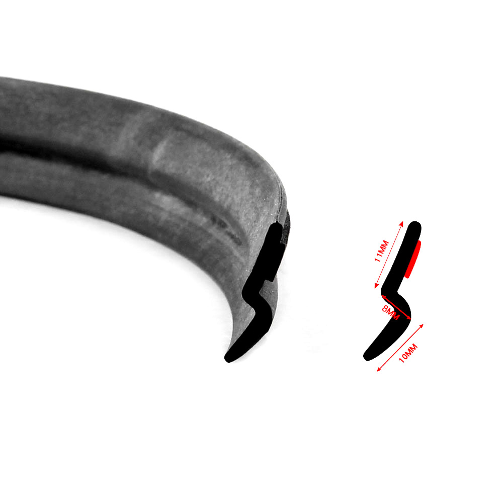 Image 3 - 5M Z Type Car Rubber Seal Sound Insulation Filler Adhesive Door Weatherstrip Rubber Seals Trim High Density Seal Strip-in Fillers, Adhesives & Sealants from Automobiles & Motorcycles