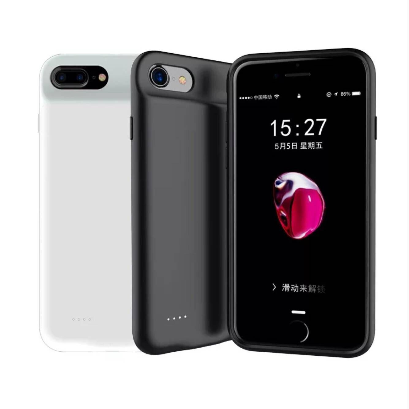 Vraiment Capacité 3000 mAh pour Iphone 6 6 s 7 8 Plus Cas de Batterie Externe Chargeur Portable Batterie D'alimentation De Secours banque Rechargeable