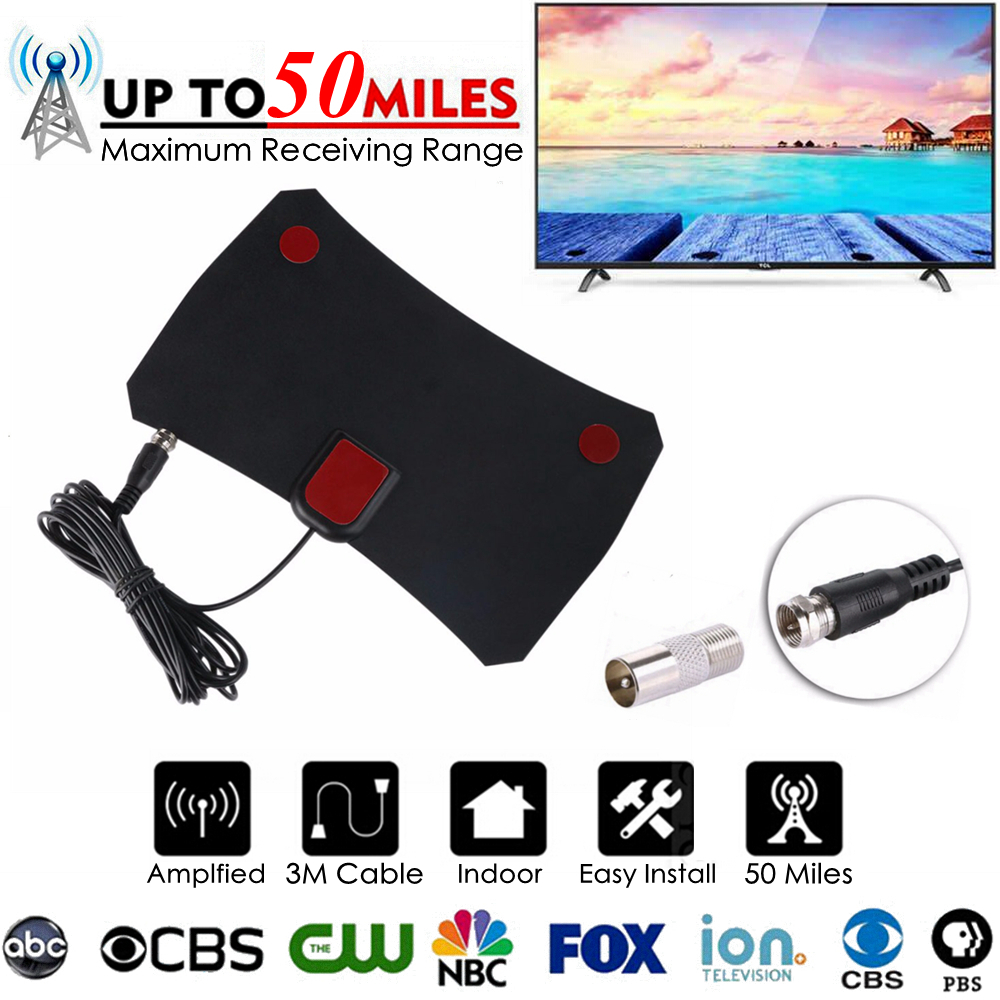 Free TV Fox HD Digital DTV Indoor TV Antenna TVFox HDTV Antena DVB-T DVB-T2 VHF UHF ISDB ATSC DVB Signal Receiver TV Aerial