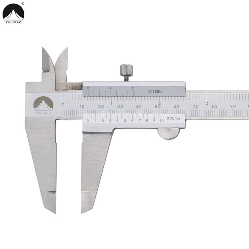 FUJISAN Vernier Caliper 8 0 200mm 0 05 1 128in Calipers Micrometer Gauge Stainless Steel Measuring