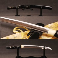 Christmas Gift Full Tang Handmade Japanese Samurai Sword Tanto 1060 Carbon Steel Sharp Edge Knife Vintage Home Decoration ESA304